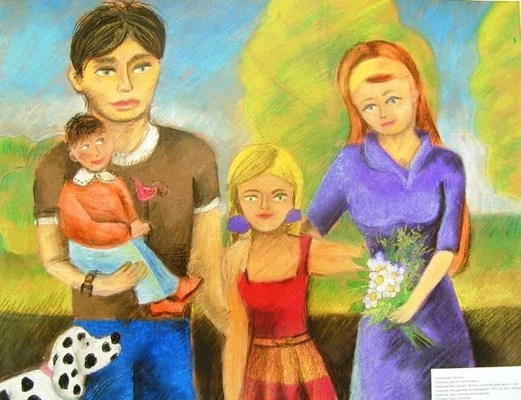 Моя семья глазами детей картинки